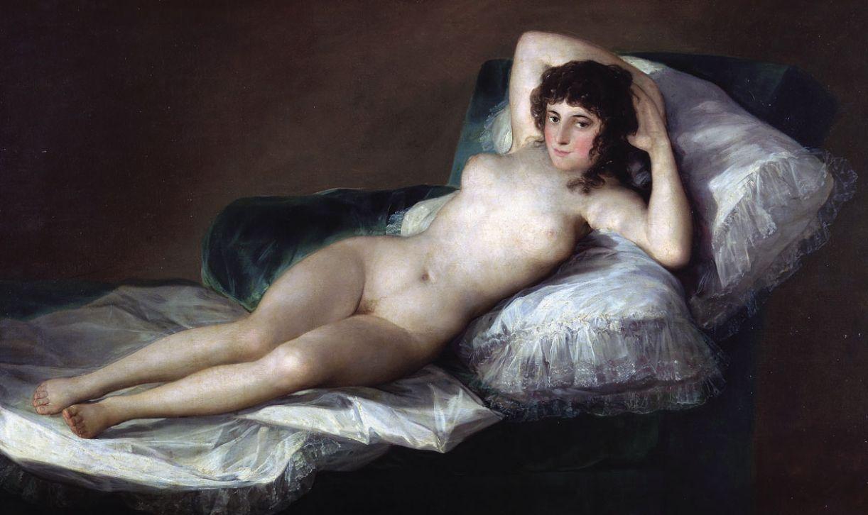 reprodução da pintura 'Maja Nua', de Francisco de Goya