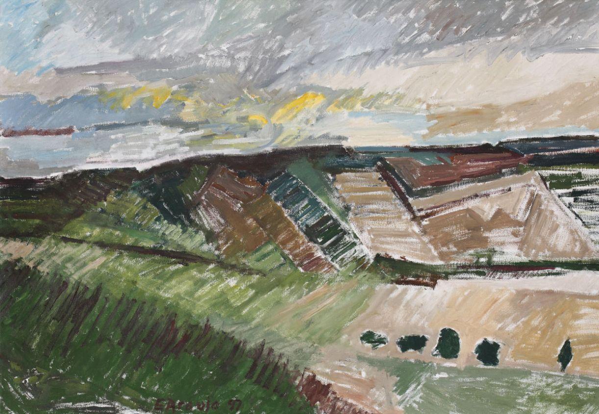 'Paisagem do sertão', de Eduardo Araújo. Óleo sobre tela, 93 x 133 cm, 1997