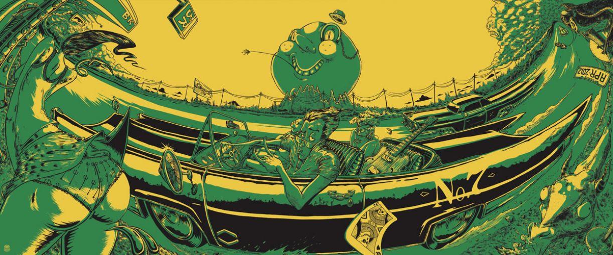 Ilustração para o estande da Petrobras na edição 2012 do festival Abril Pro Rock