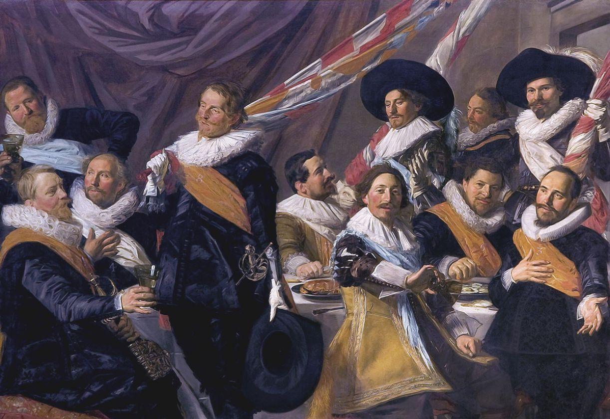 Banquete da tropa foi retratado pelo pintor flamengo Frans Hals, em 'Guarda civil de São Jorge'