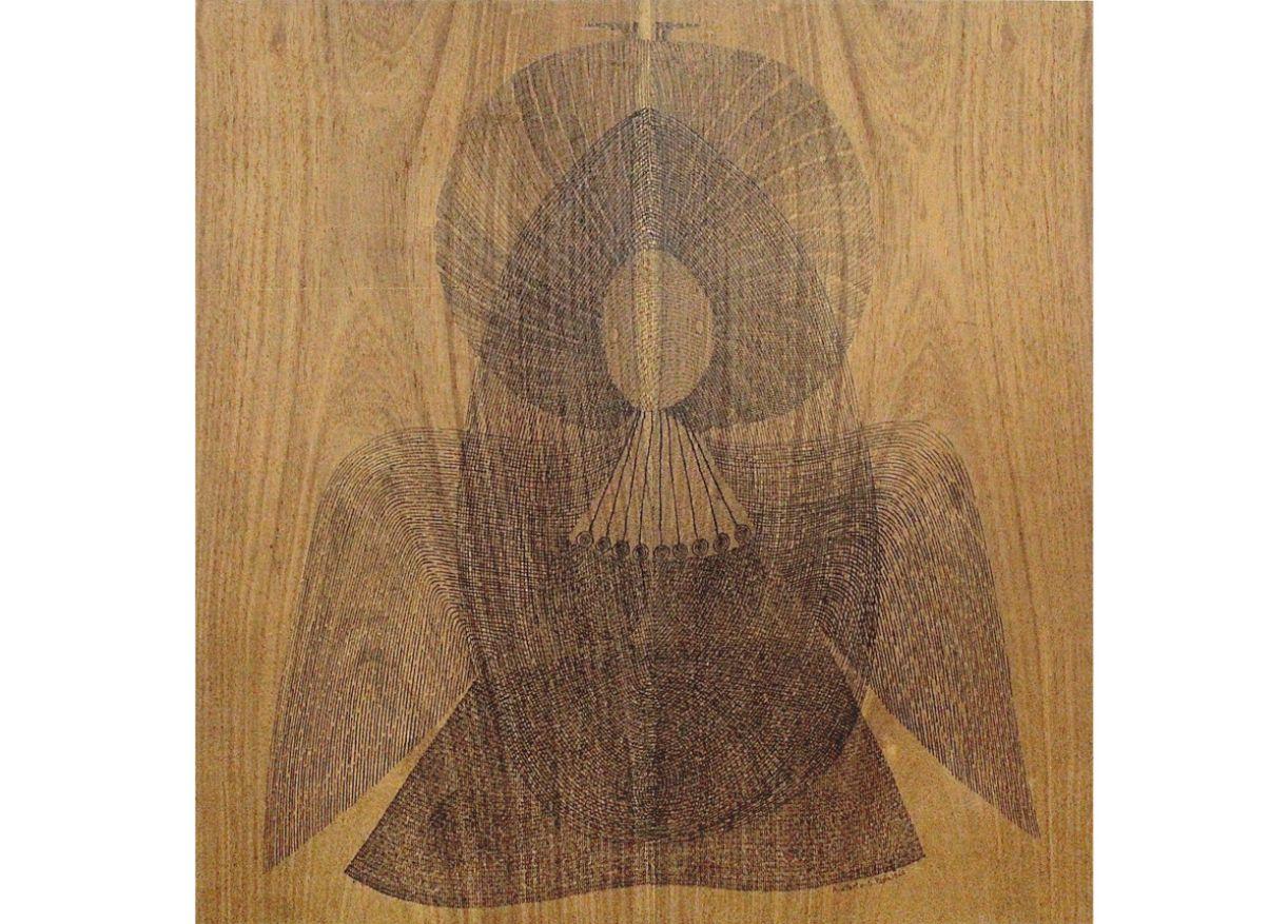 Arnaldo Pedroso d'Horta, 1960, nanquim sobre madeira, 62 x 60cm
