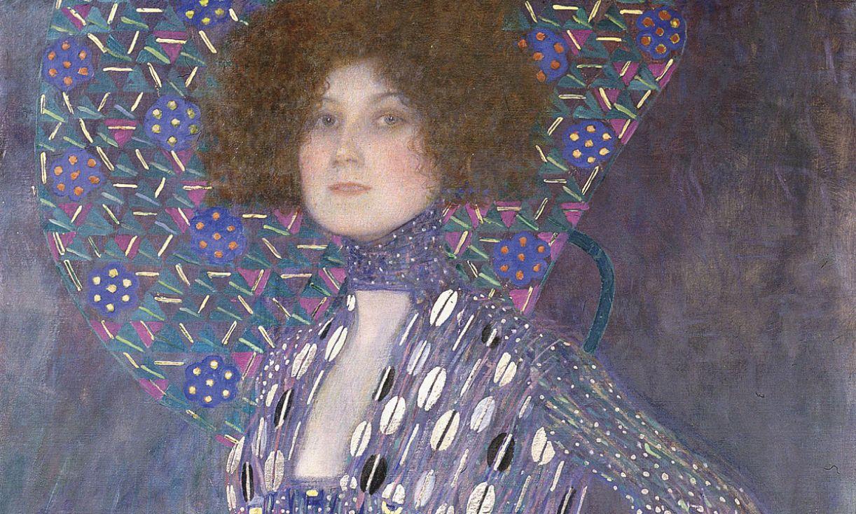 Retrato da estilista e amiga Emiulie Flöge, de 1902