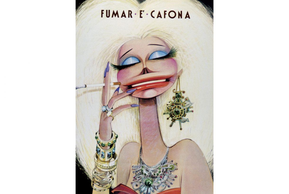 Cartaz de autoria de Ziraldo ataca, com graça, o tabagismo