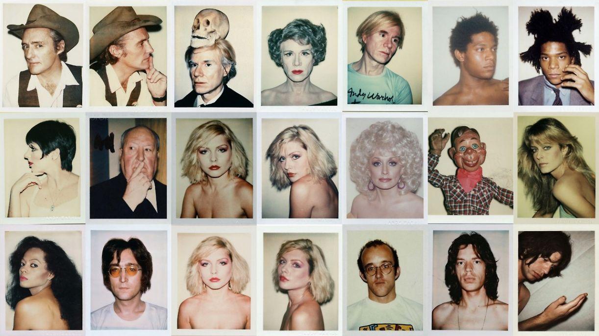 Durante as décadas de 1970-80, Andy Warhol fez vários instantâneos de artistas e personalidades que depois inspirariam pinturas e gravuras