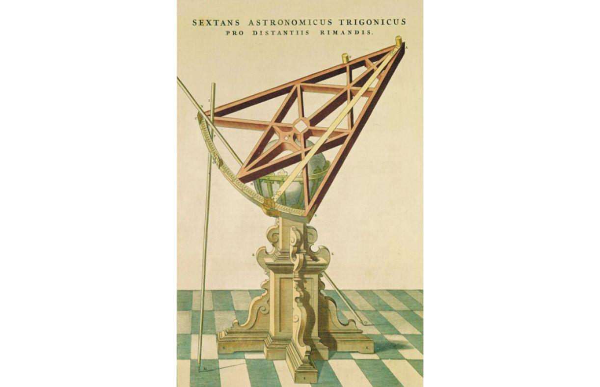 Entre os objetos utilizados para observação astronômica, está o sextante