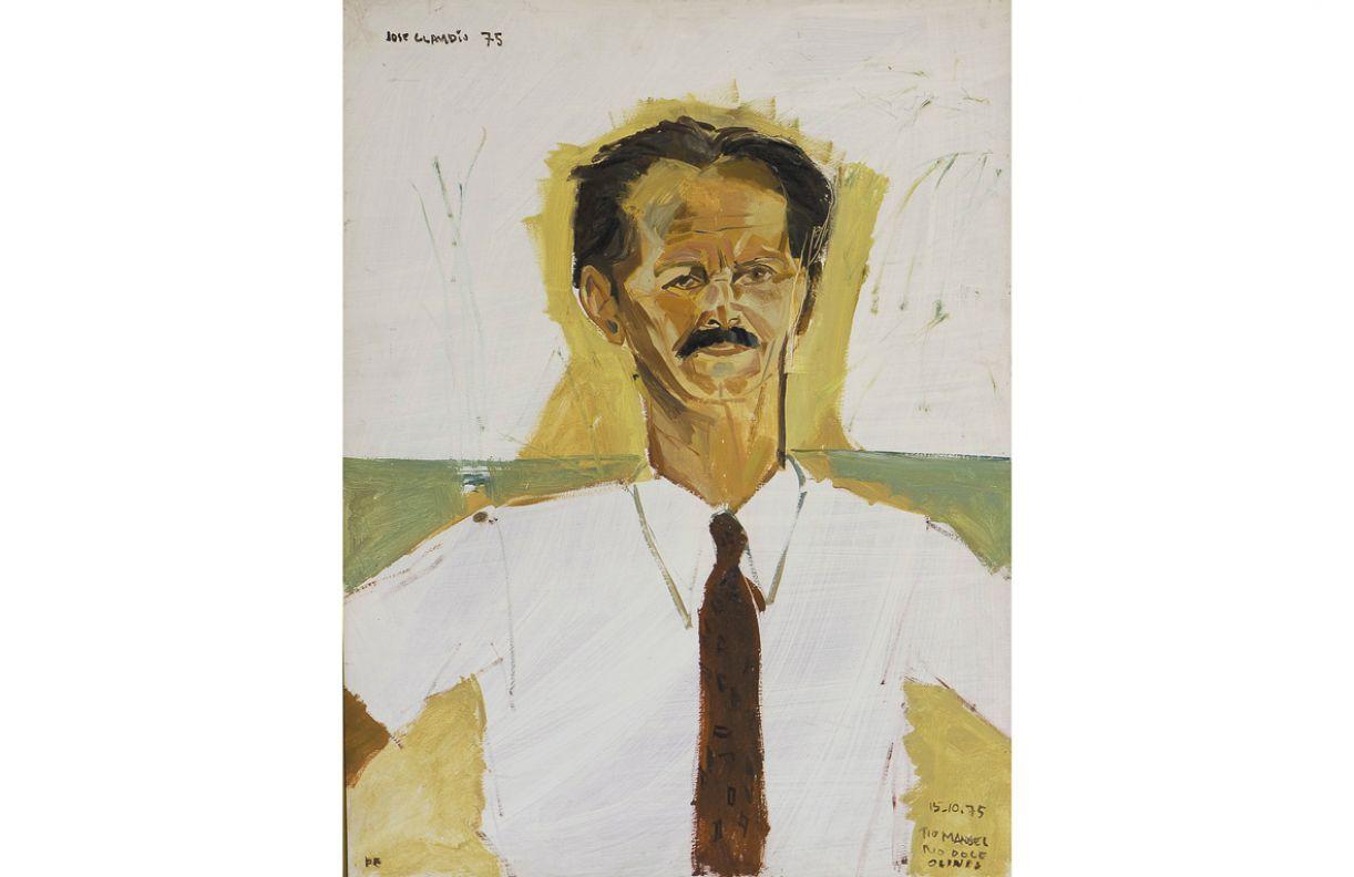 'Tio Manoel'. Óleo sobre eucatex, 1975, 80 x 60 cm