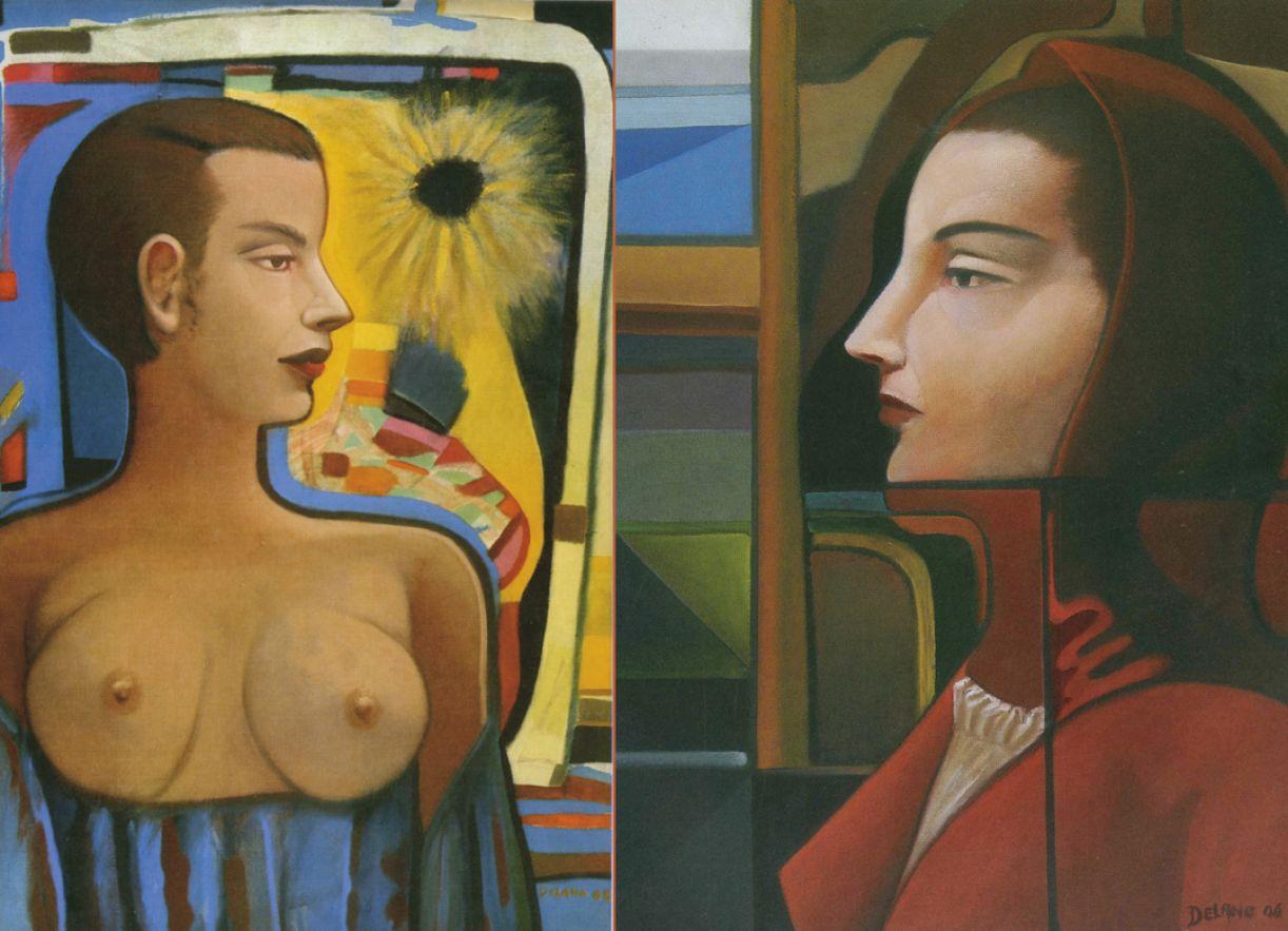 Mesmo nas pinturas que Delano veio a fazer, o desenho é preponderante