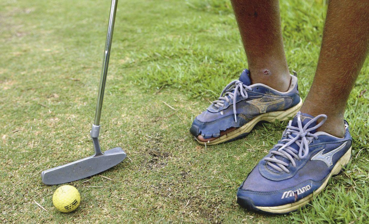 Imagem contrasta com a teoria de que o golfe é um esporte para ricos