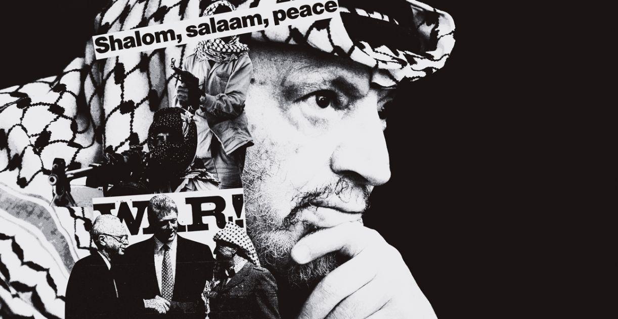 O líder pálestino Yasser Arafat
