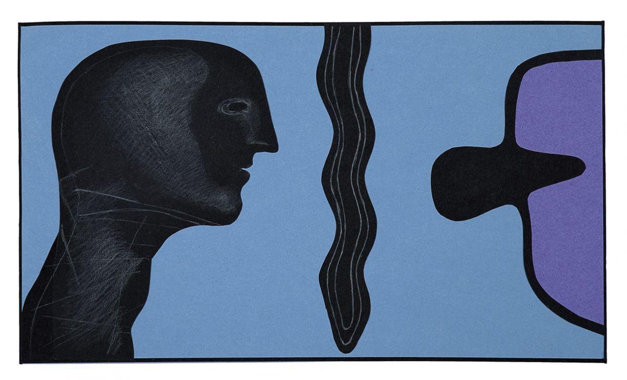 Em 'Autorreferência', de 2009, Grilo usa técnicas de colagem e desenho