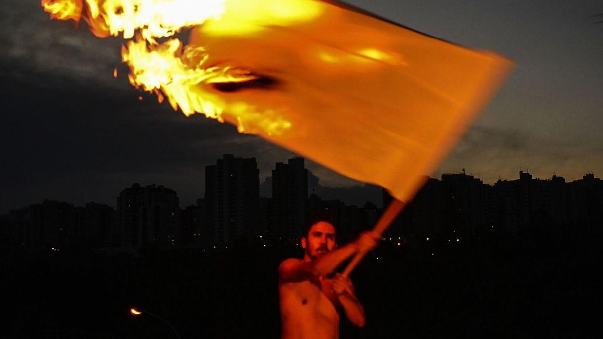 'Zeitgeist', obra de Paul Setúbal presente na exposição 'As bandeiras da revolução - Pernambuco 1817/2017'