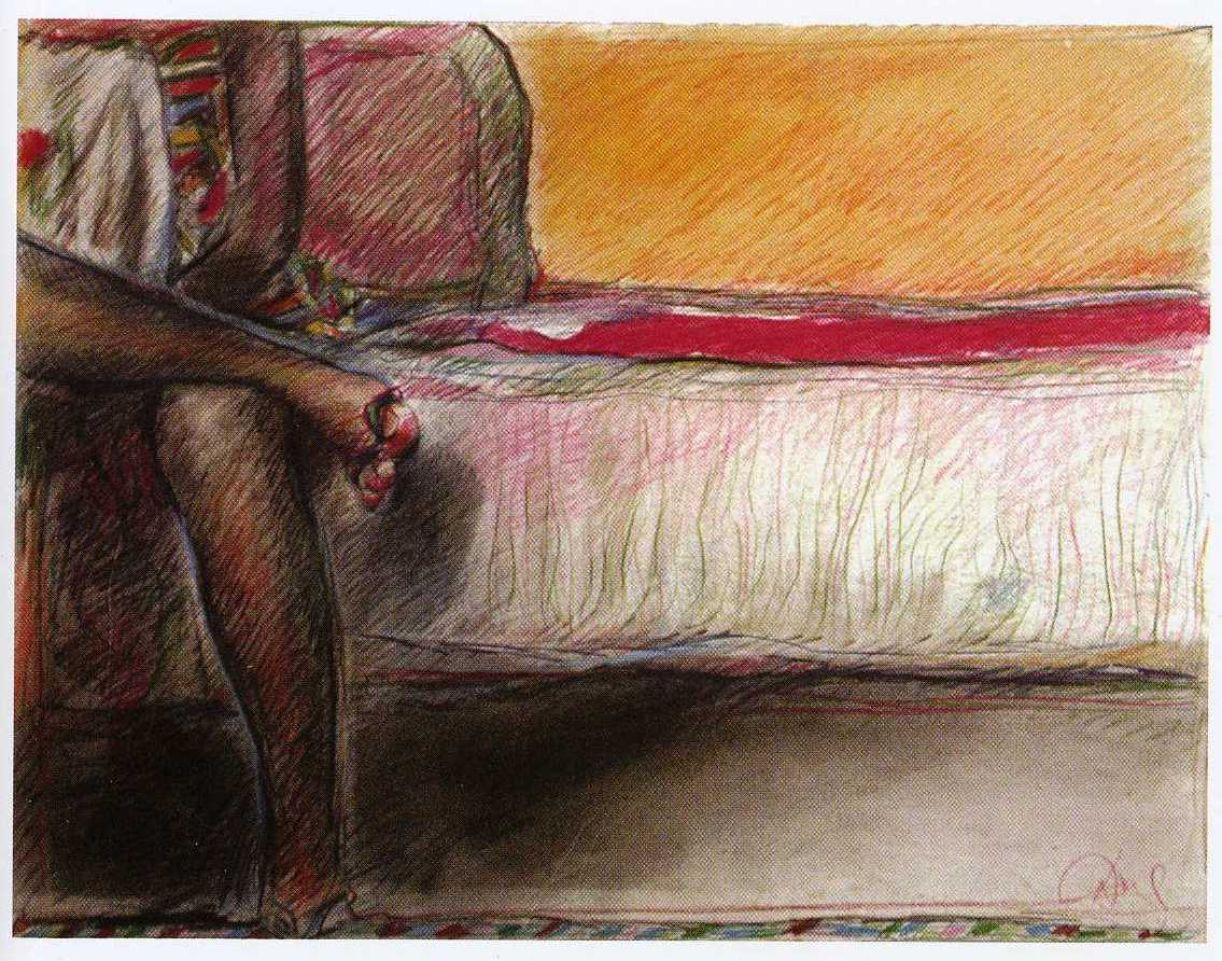 Darel Valença, pintura sobre papel, 51 x 73 cm, década de 1980