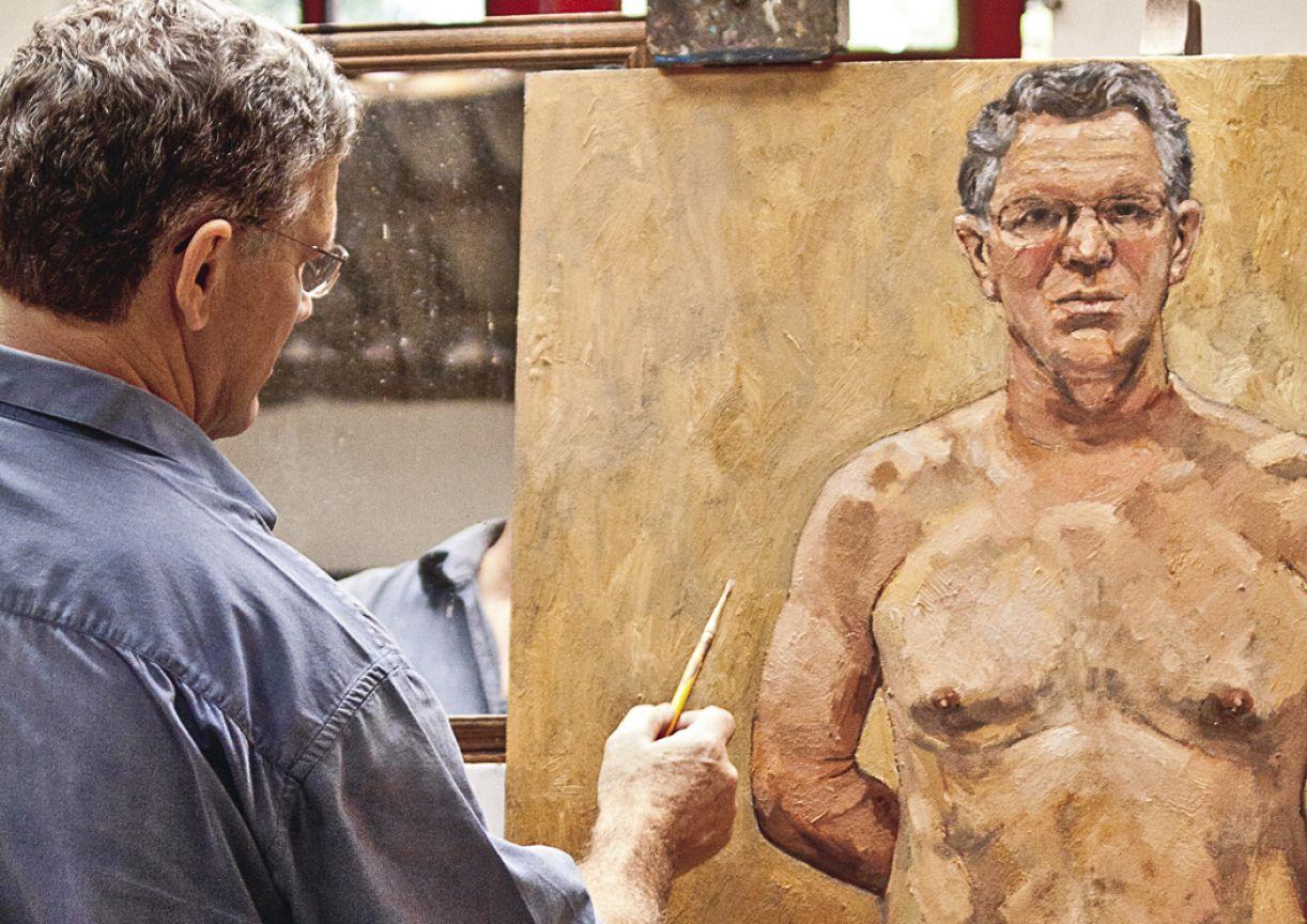 Artista finaliza conjunto de obras com autorretrato, intitulado 'Capturados'