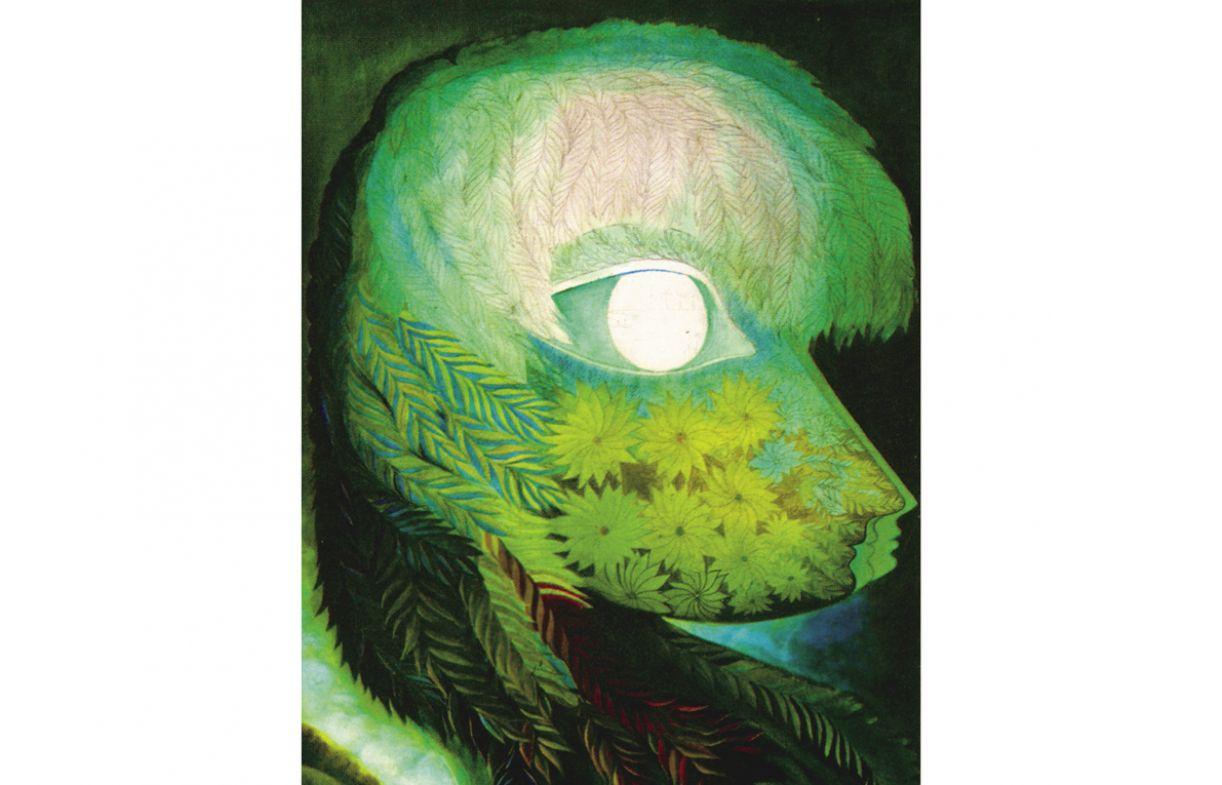 Composições de figuras femininas e elementos da natureza caracterizam a série colorida