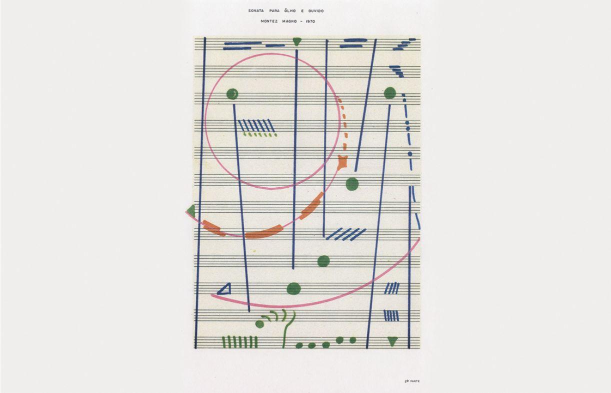 A música influenciou a obra de Montez em 'Sonata para olho e ouvido'