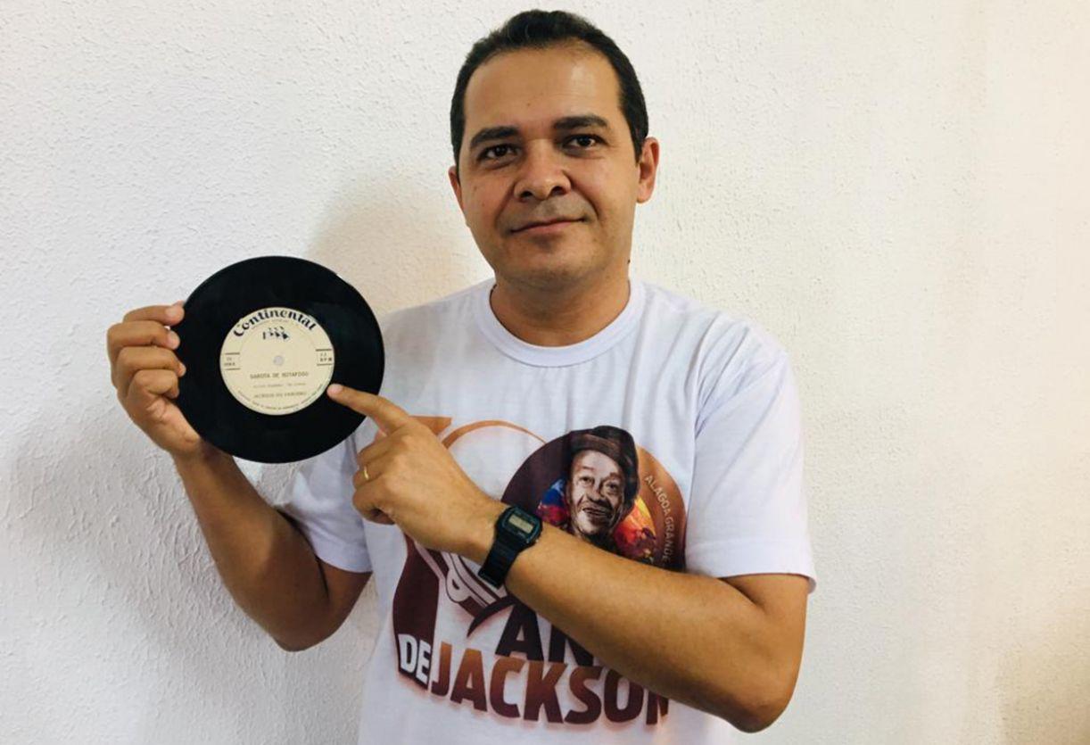 O colecionador Jocelino Tomaz de Lima descobriu o disco por acaso, num sebo em São Paulo