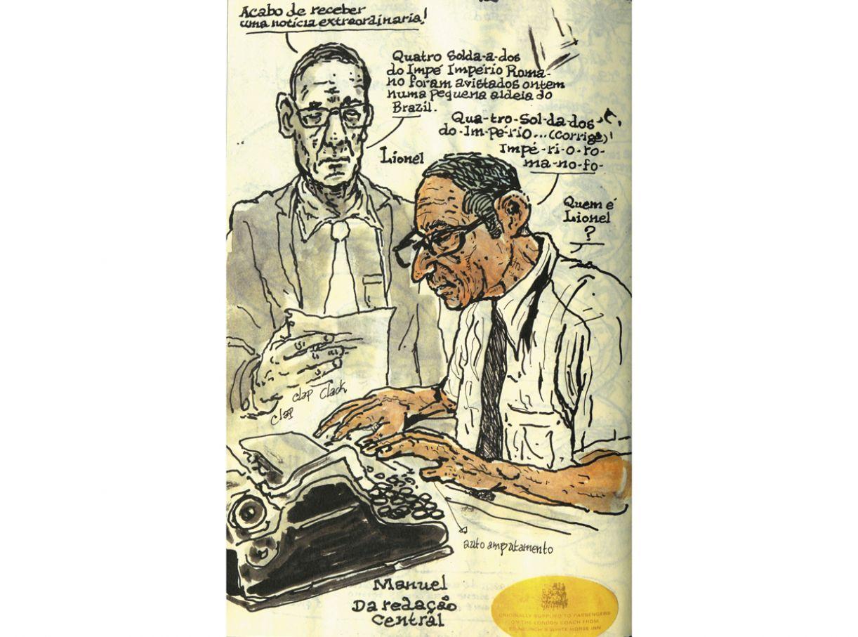 """Quadrinista Lourenço Mutarelli, presente na coletânea 'Sketchbooks', diz que seus cadernos são """"geradores de ideias livres"""""""