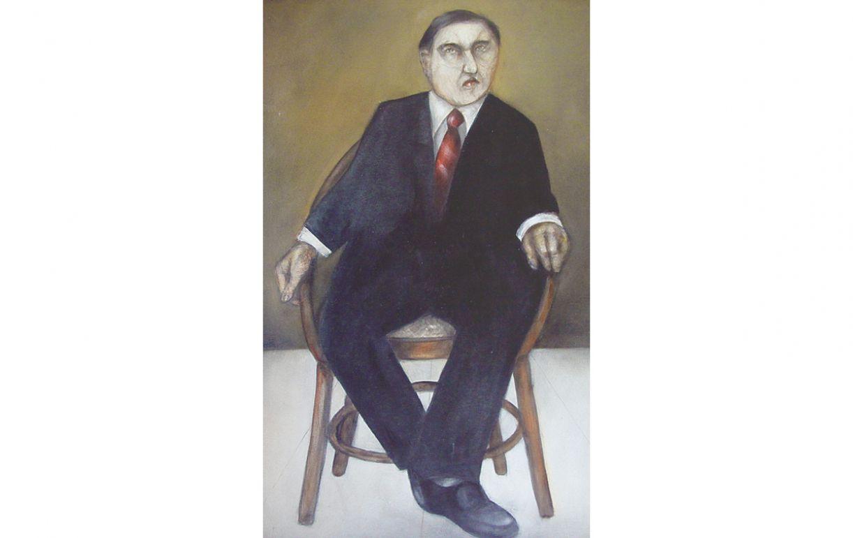 'Consilium fraudis'. Acrílica sobre tela, 90x60cm, 1993