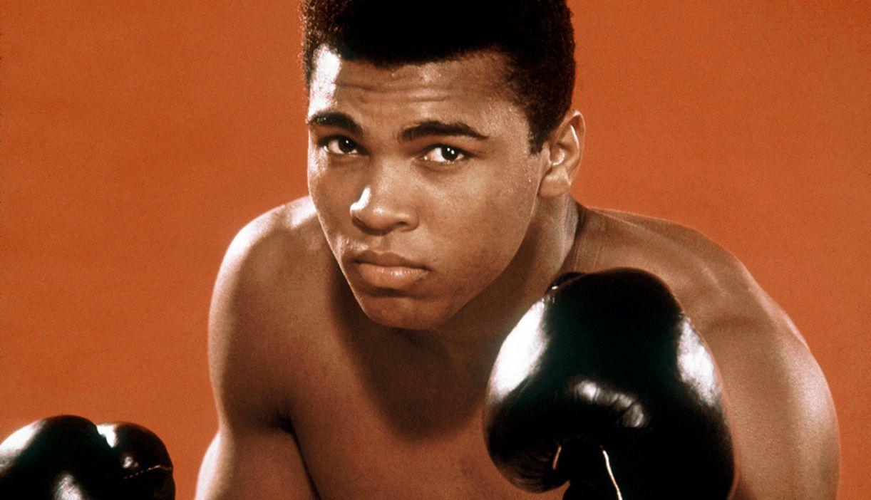 O combatente político Muhammad Ali