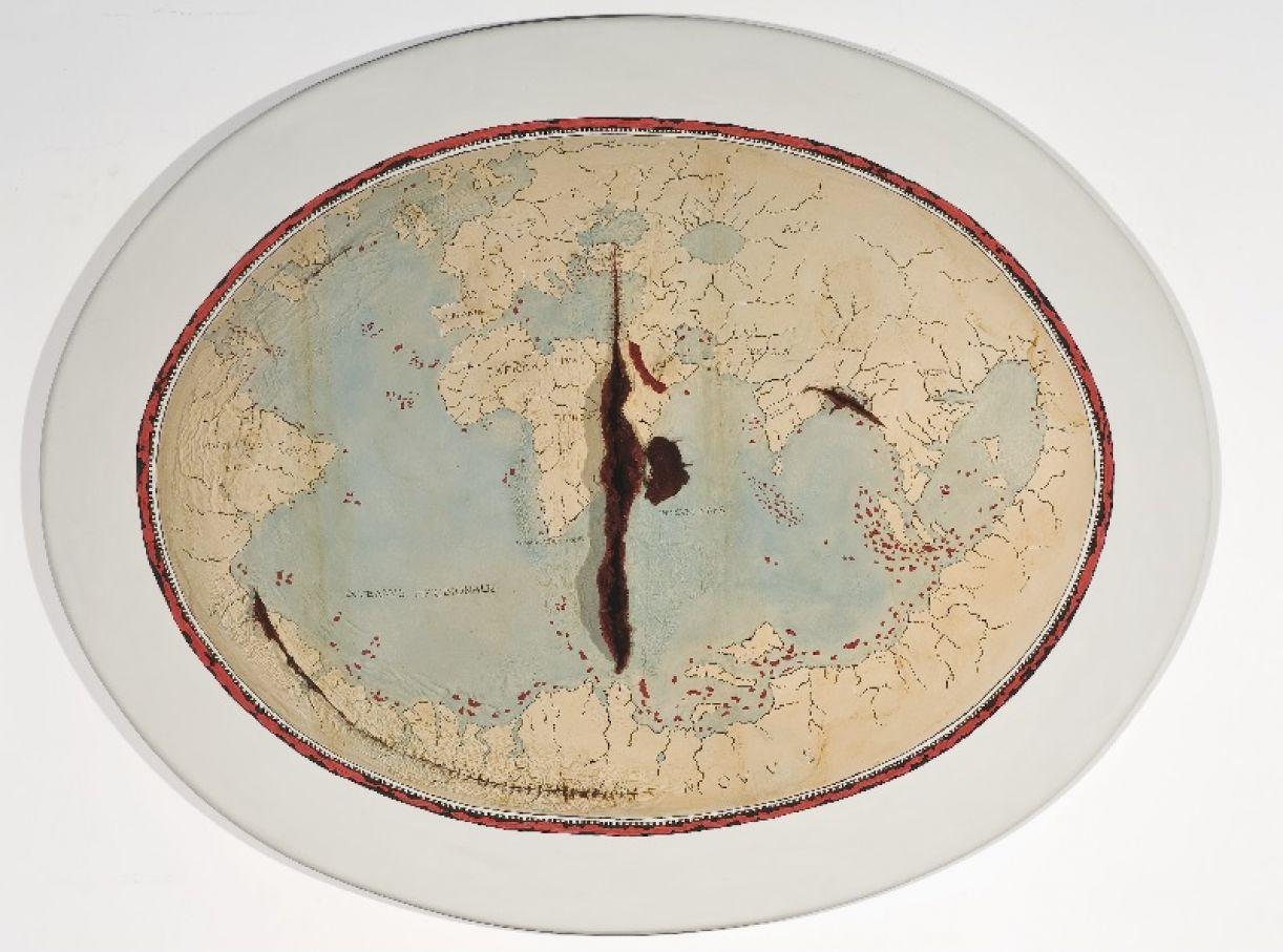 Imagem da obra 'Mapa de Lopo Homem II', de Adriana Varejão
