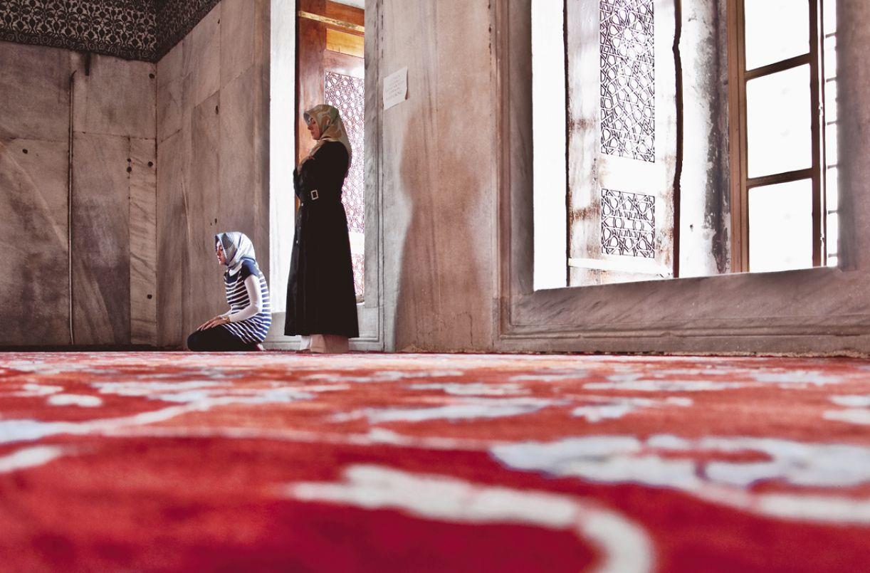 As mesquitas contam com áreas exclusivas para mulheres