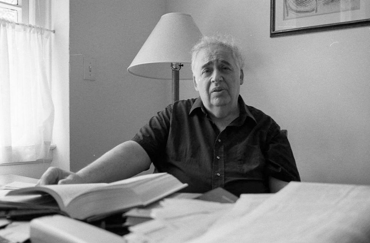 O professor e crítico literário Harold Bloom em julho de 1995, Nova York