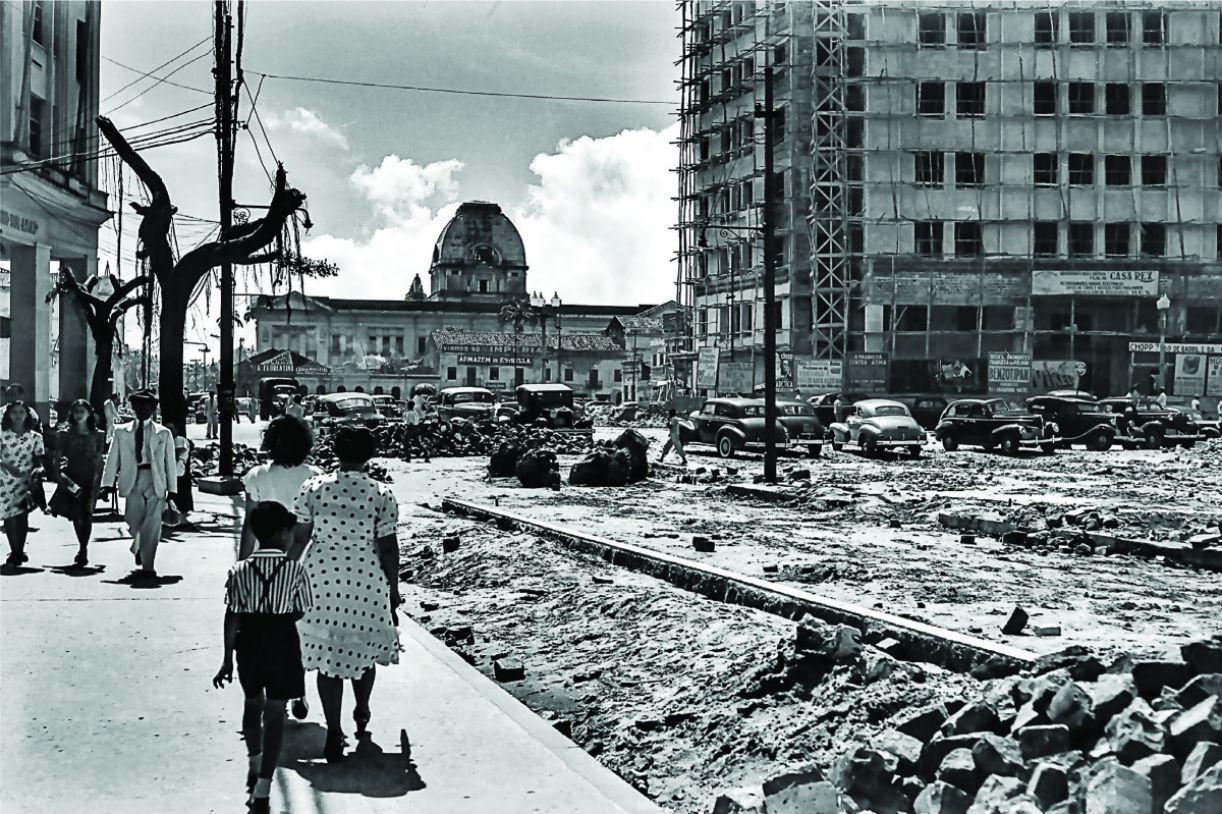Praça da Independência em 1946