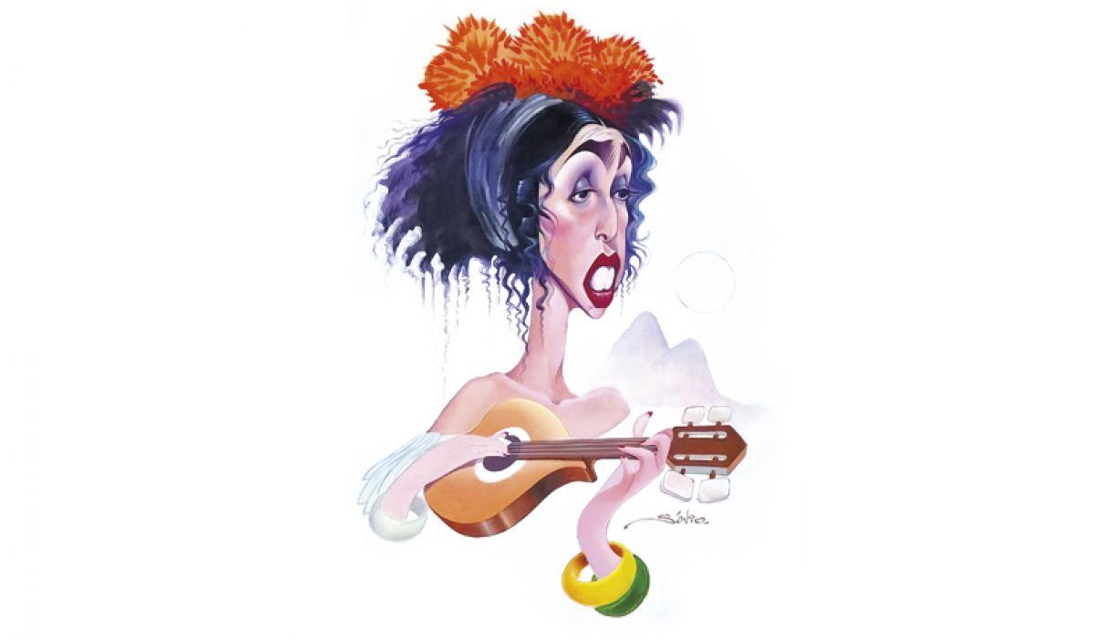 Caricatura de Marisa Monte