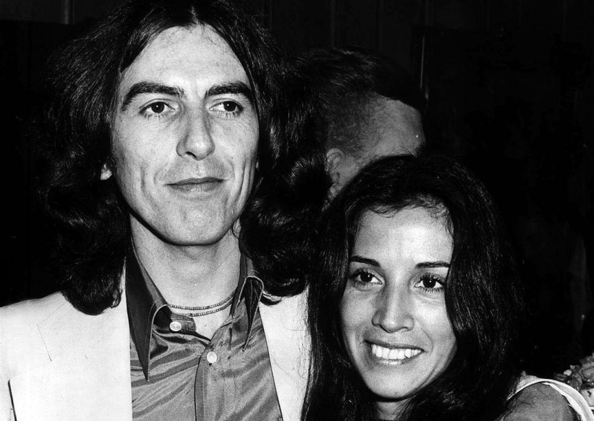 George e Olivia Harrison nas Bahamas, na década de 1970