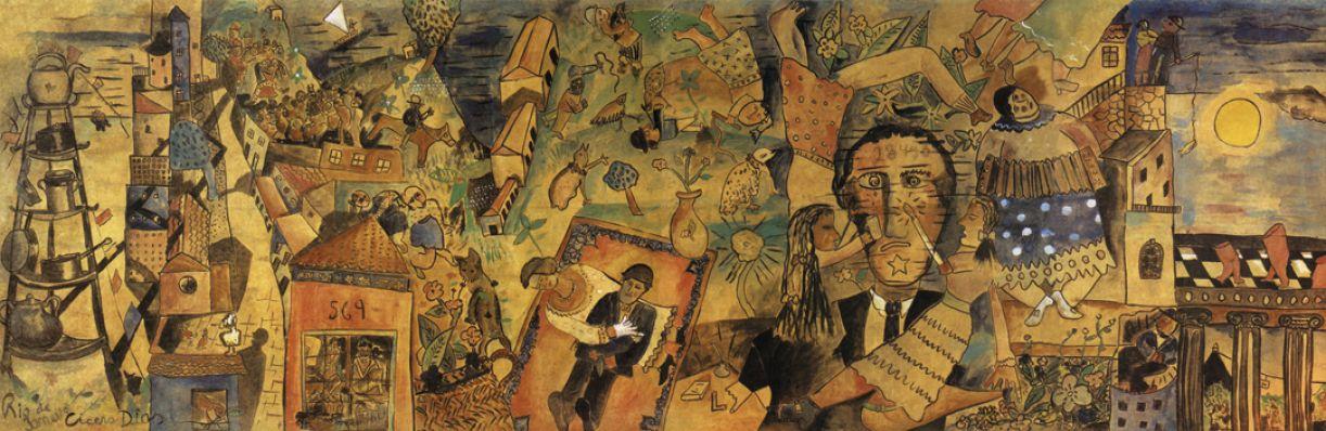 Detalhe de 'Eu vi o mundo... Ele começava no Recife', de Cícero Dias