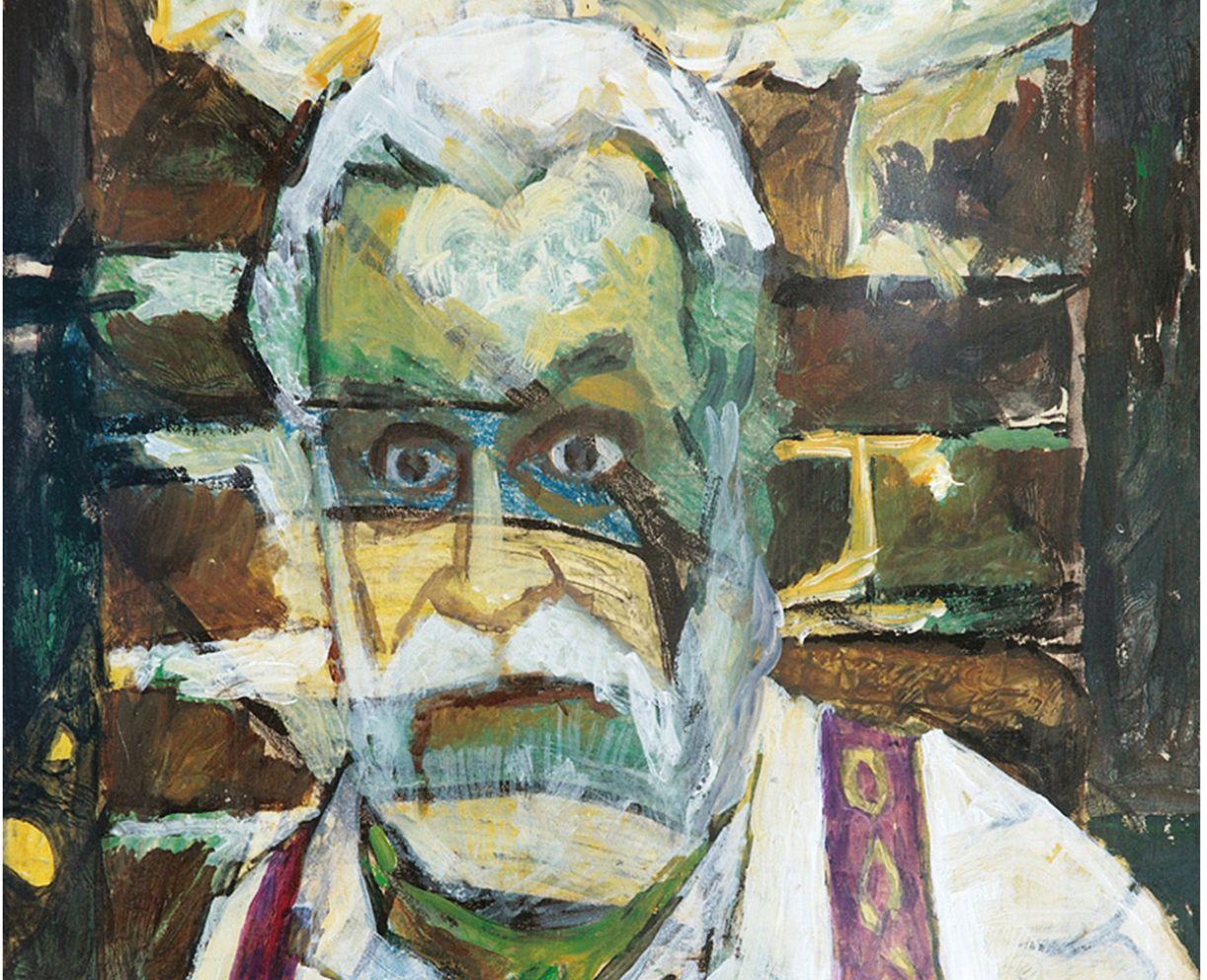 Detalhe de autorretrado pintado por Brennand (1997)