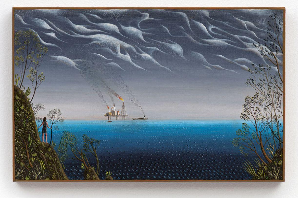 Reprodução do óleo sobre tela 'Atlântida' (2011) é uma das que compõem o livro