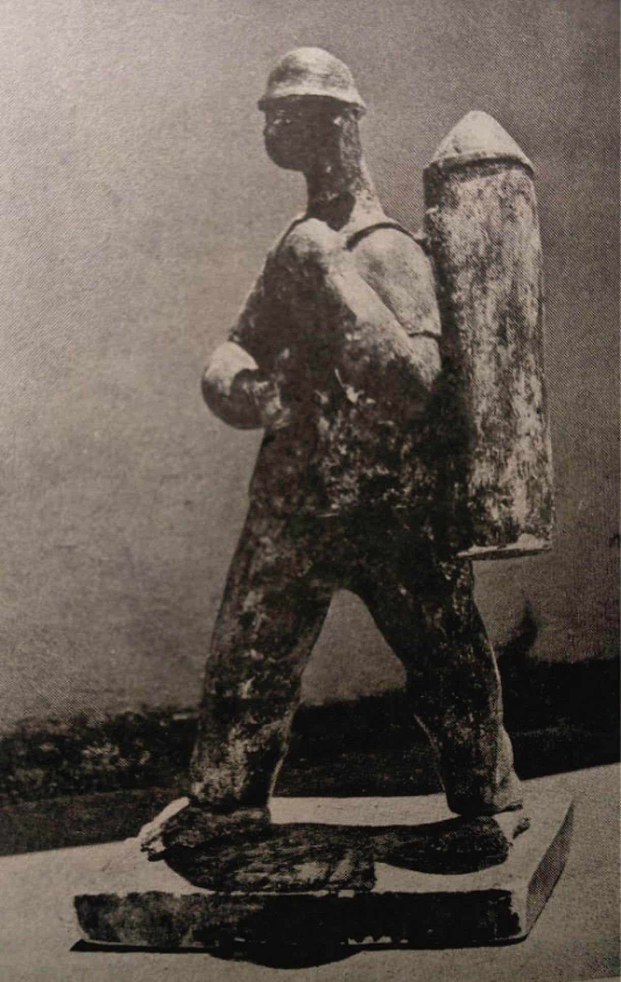 'Vendedor de cavaquinho'. Gesso, 53 x 26 cm, 1953, Wilton de Souza
