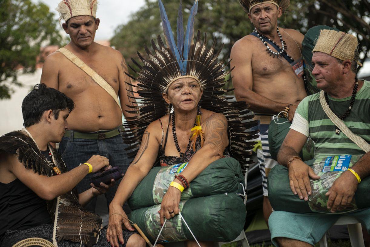 Dorinha Pankará no 'Acampamento Terra Livre' de 2018