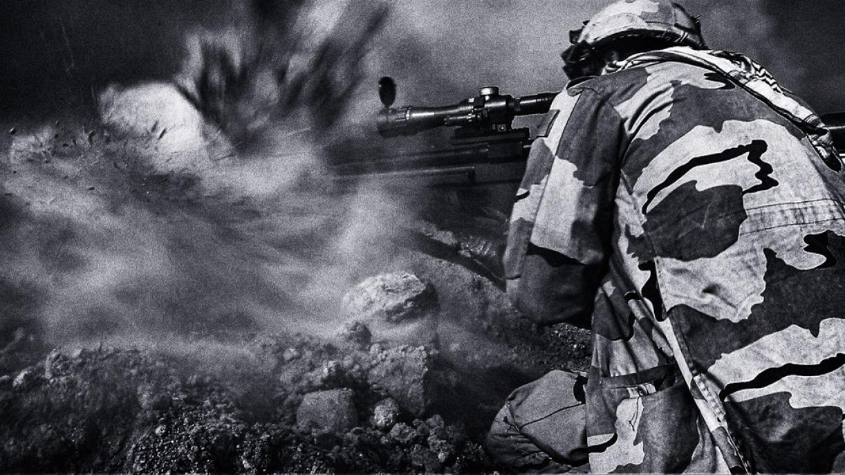 Yan Boechat fez esta foto no dia seguinte a intensos combates no Iraque. O bastidor desse momento você encontra nesta matéria