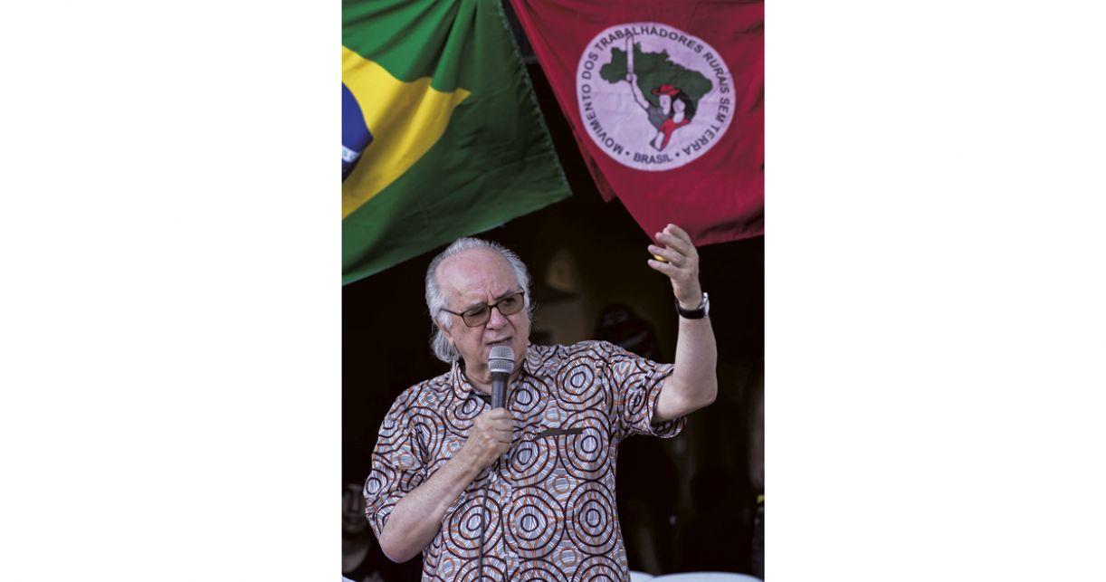 Boaventura de Sousa Santos no Armazém do Campo, no centro do Recife, em dezembro de 2019