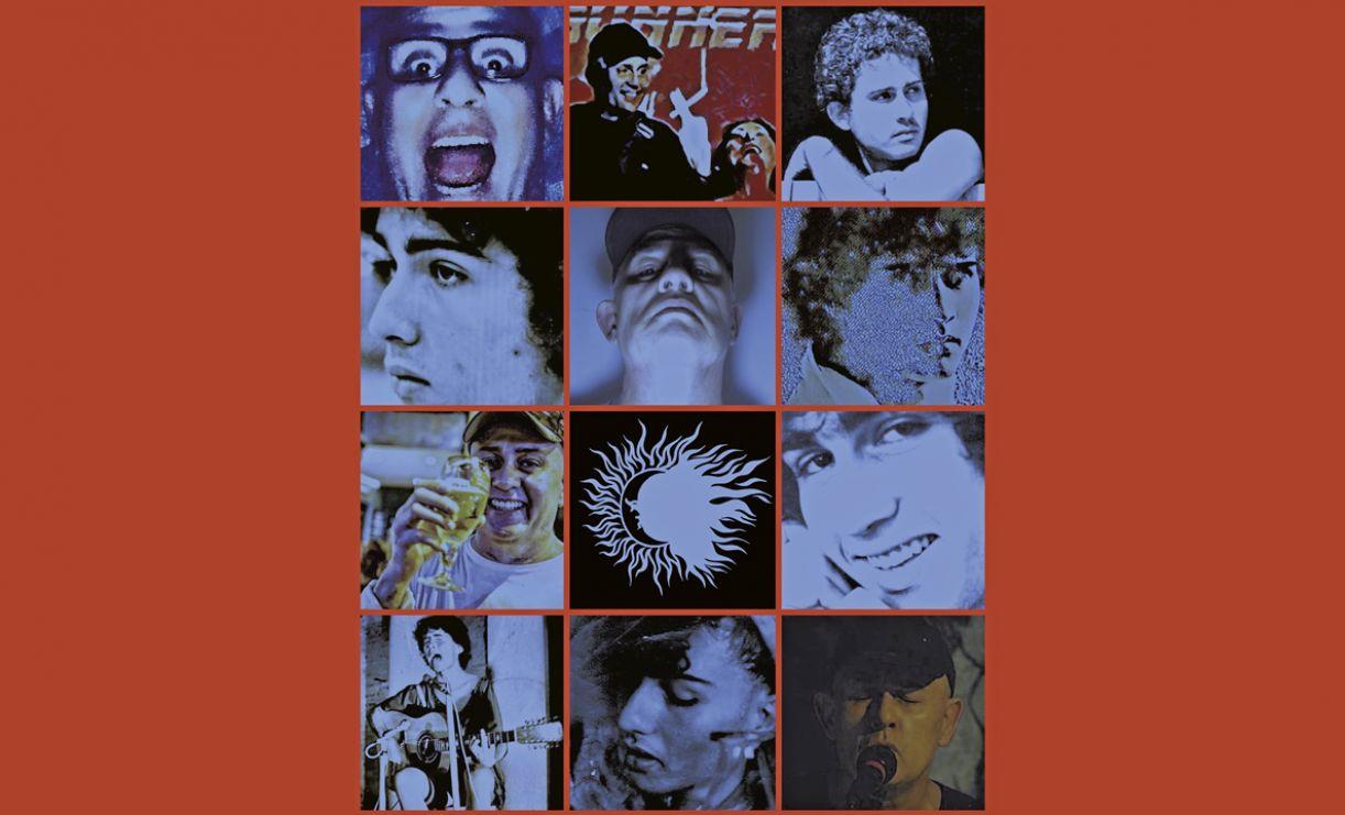 Mosaico com várias facetas do compositor