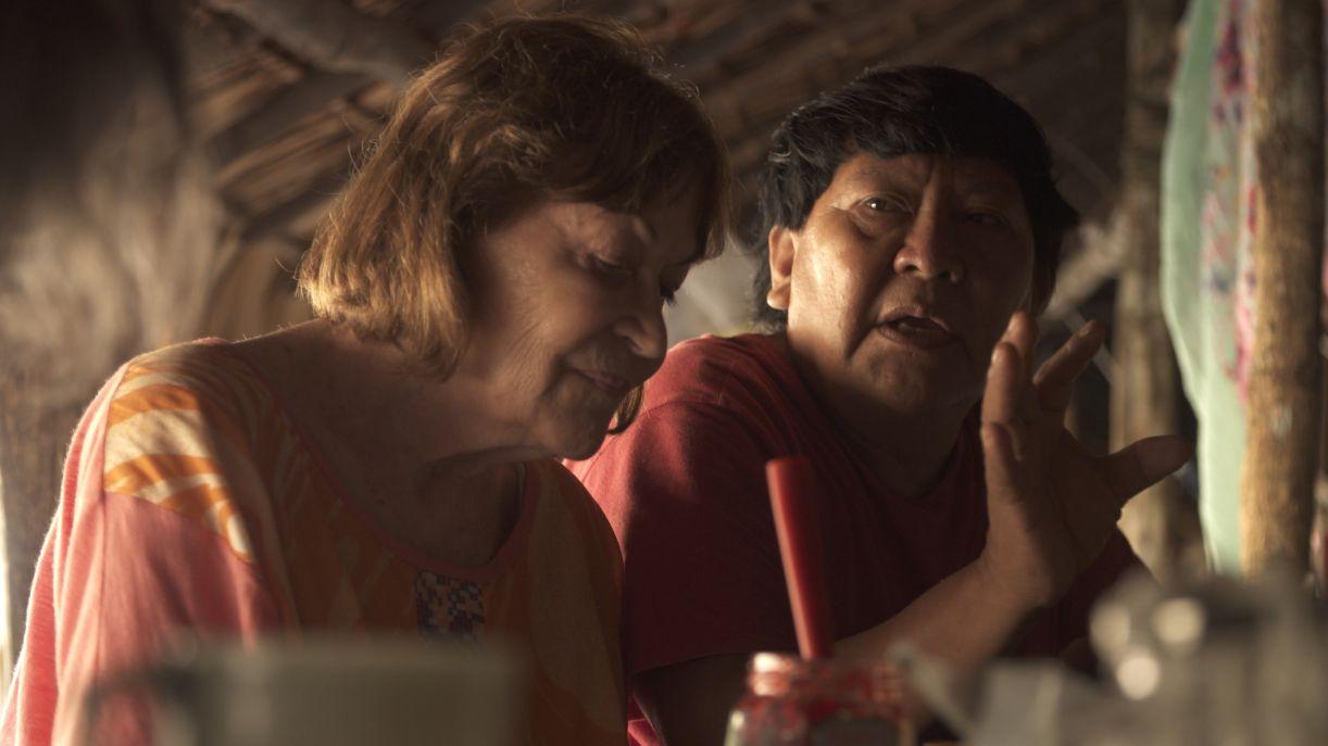 Claudia Andujar e Davi Kopenawa em depoimento ao documentário 'Gyuri', disponível online até 5 de outubro