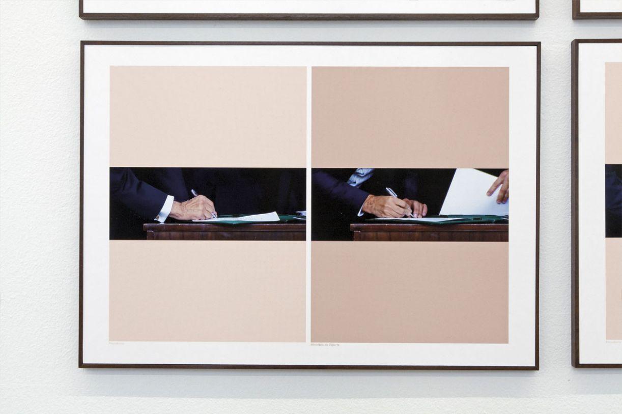 Na obra 'Tratado', a artista traz um olhar incisivo sobre a posse do presidente Michel Temer