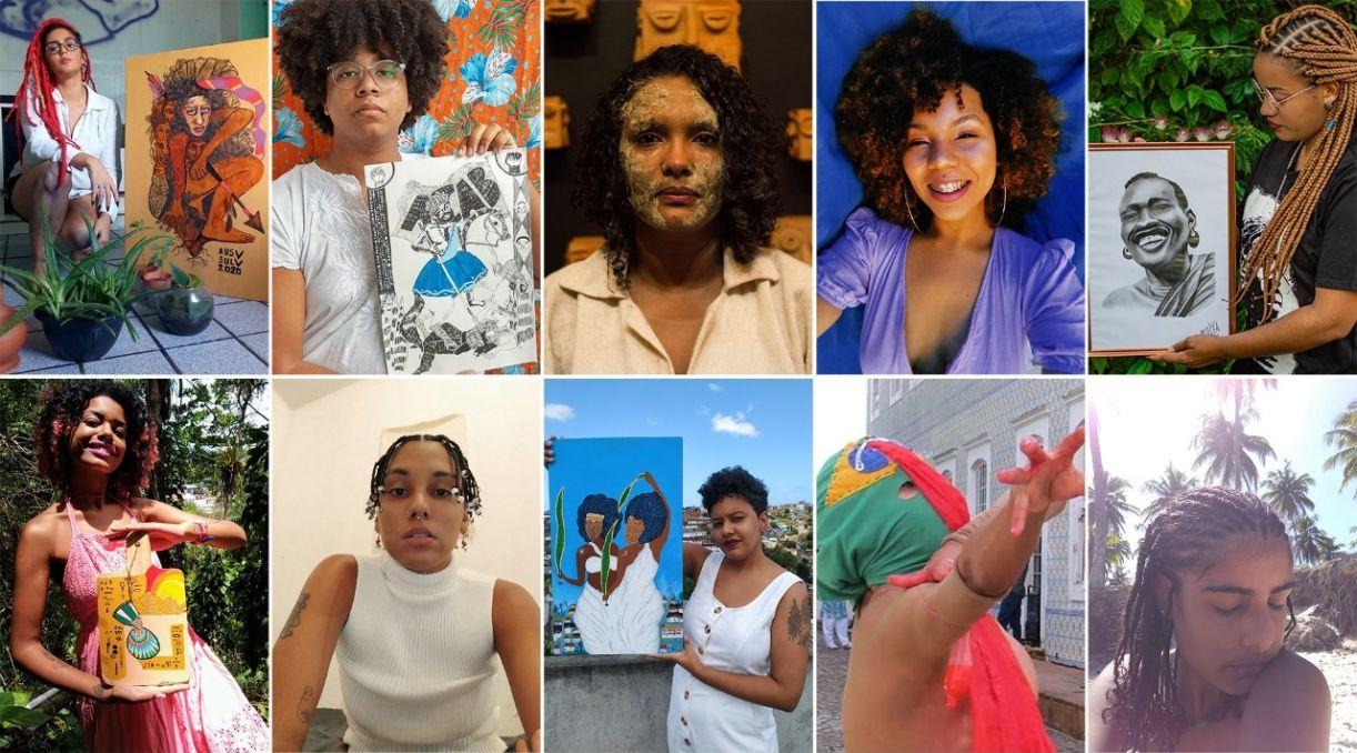 Algumas das artistas que leiloarão suas obras