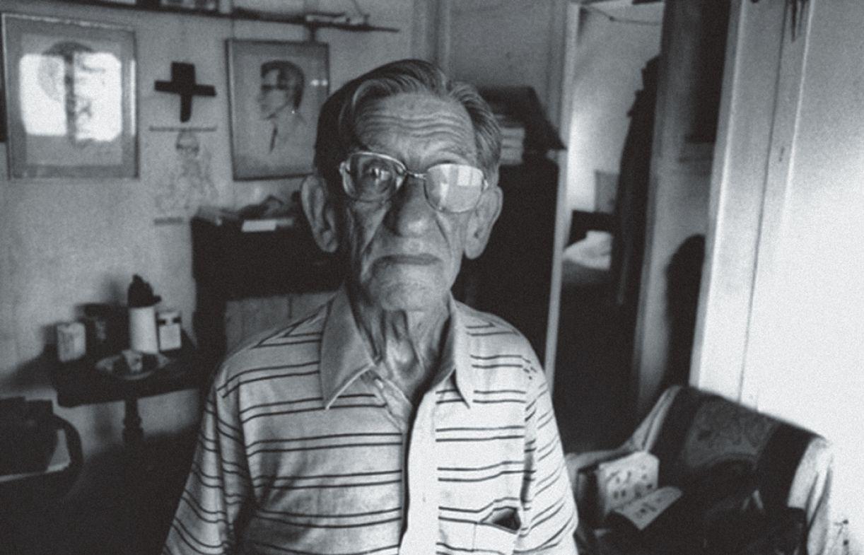 Pereléchin em 1983, quando acolhido no Retiro dos Artistas, no Rio de Janeiro