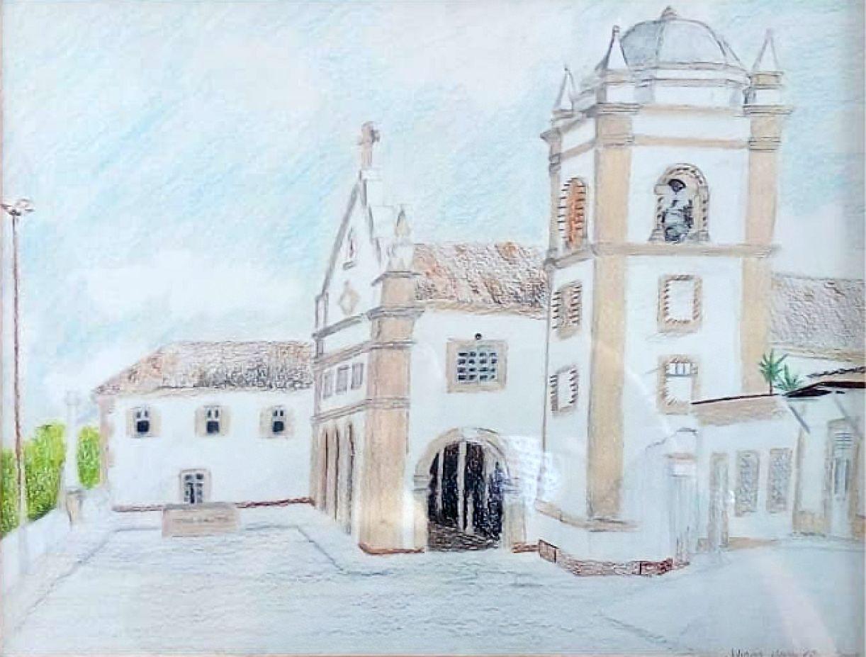 Juliana Monteiro. 'Convento de Ipojuca'. Desenho sobre papel, 32 x 42 cm, 2003