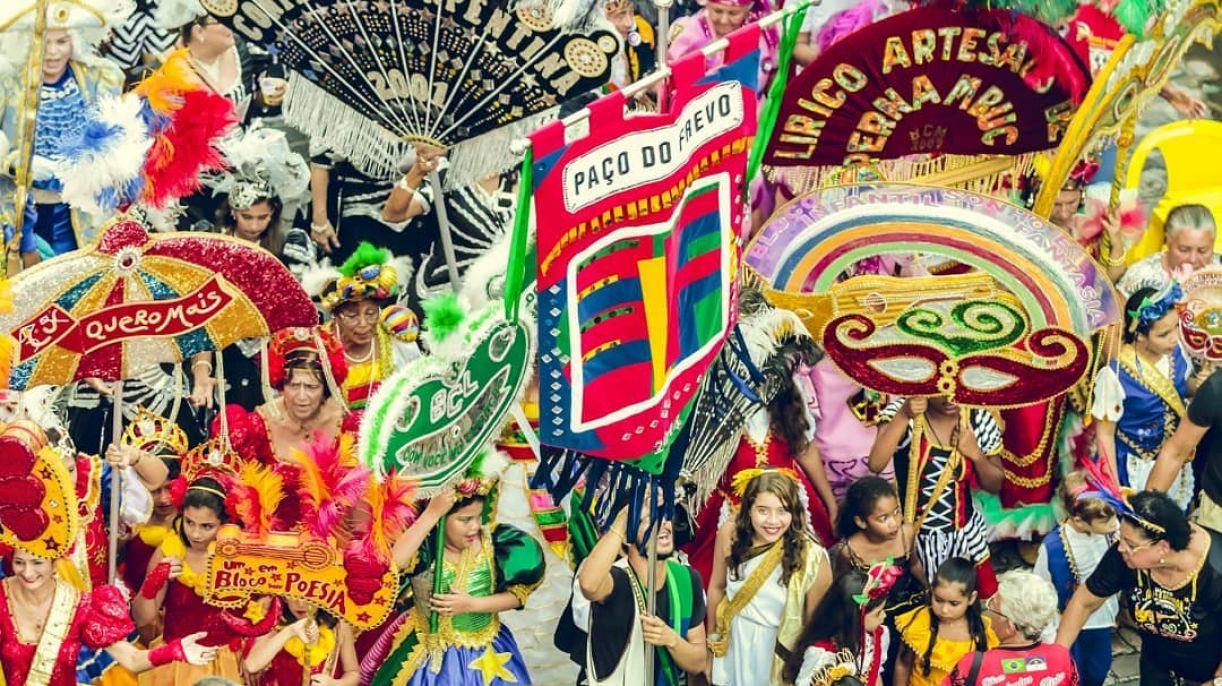 O bloco do Paço do Frevo em carnaval passado