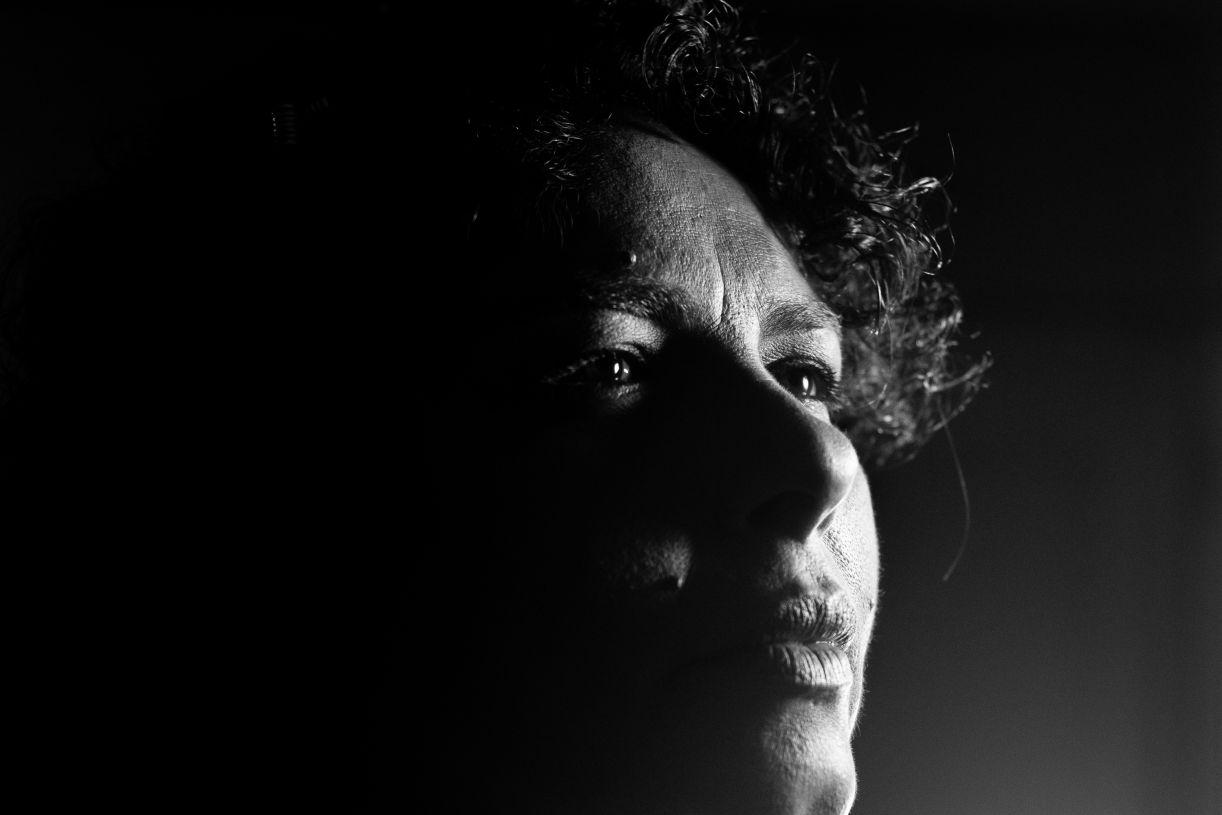 A percussionista, cantora e compositora olindense Gangga Barreto