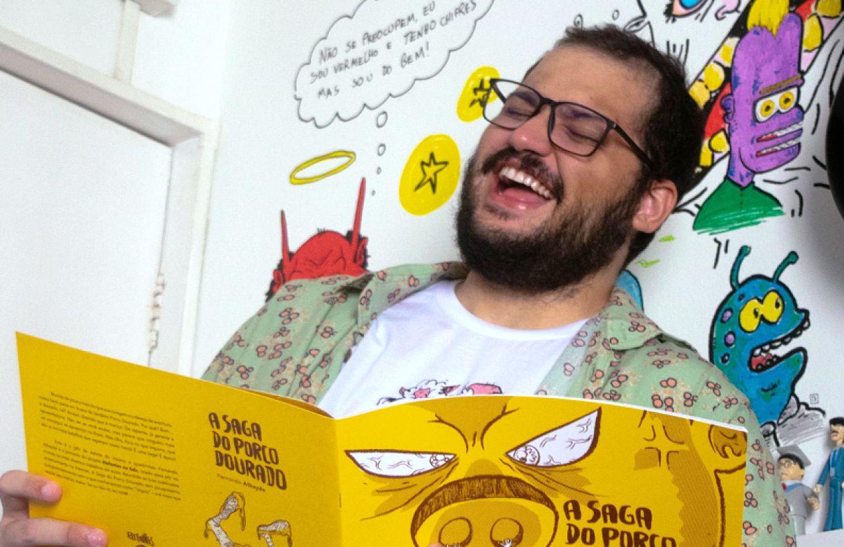 O livro pode ser adquirido na loja virtual 'Elefantes na sala', marca criada pelo autor