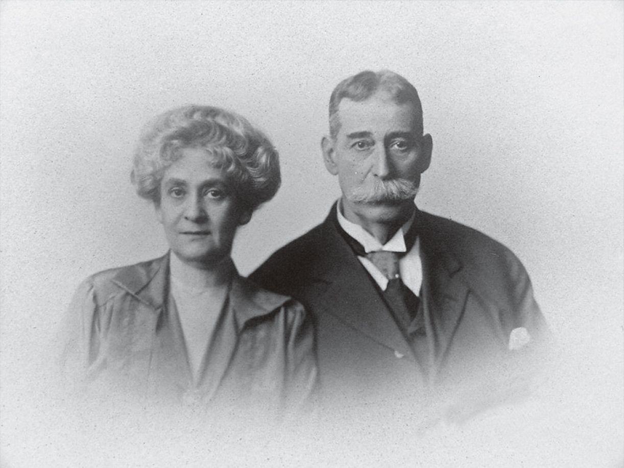 O casal Flora e Oliveira Lima, na maturidade