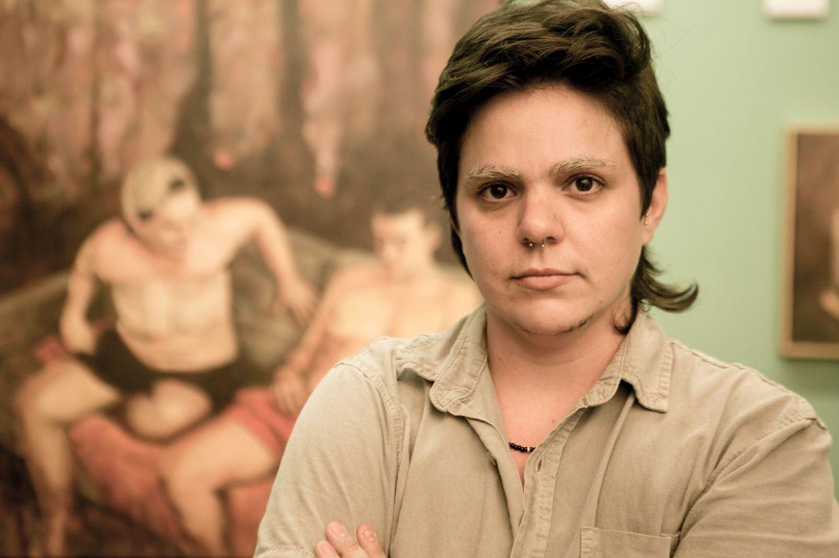 O pintor Fefa Lins