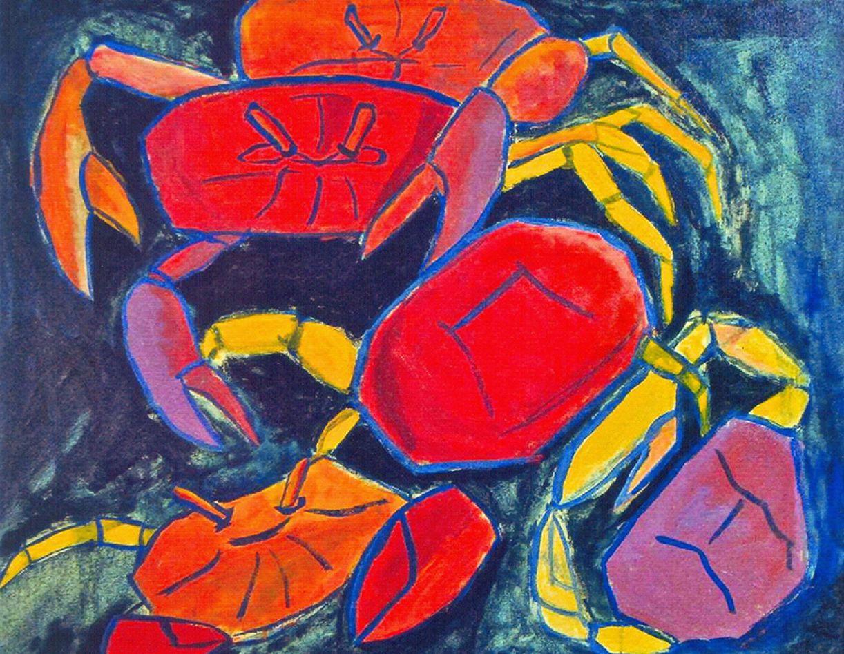 Bruno de Souza Leão. 'Guerra no mangue', acrílica sobre tela, 80 x 100 cm, 2015