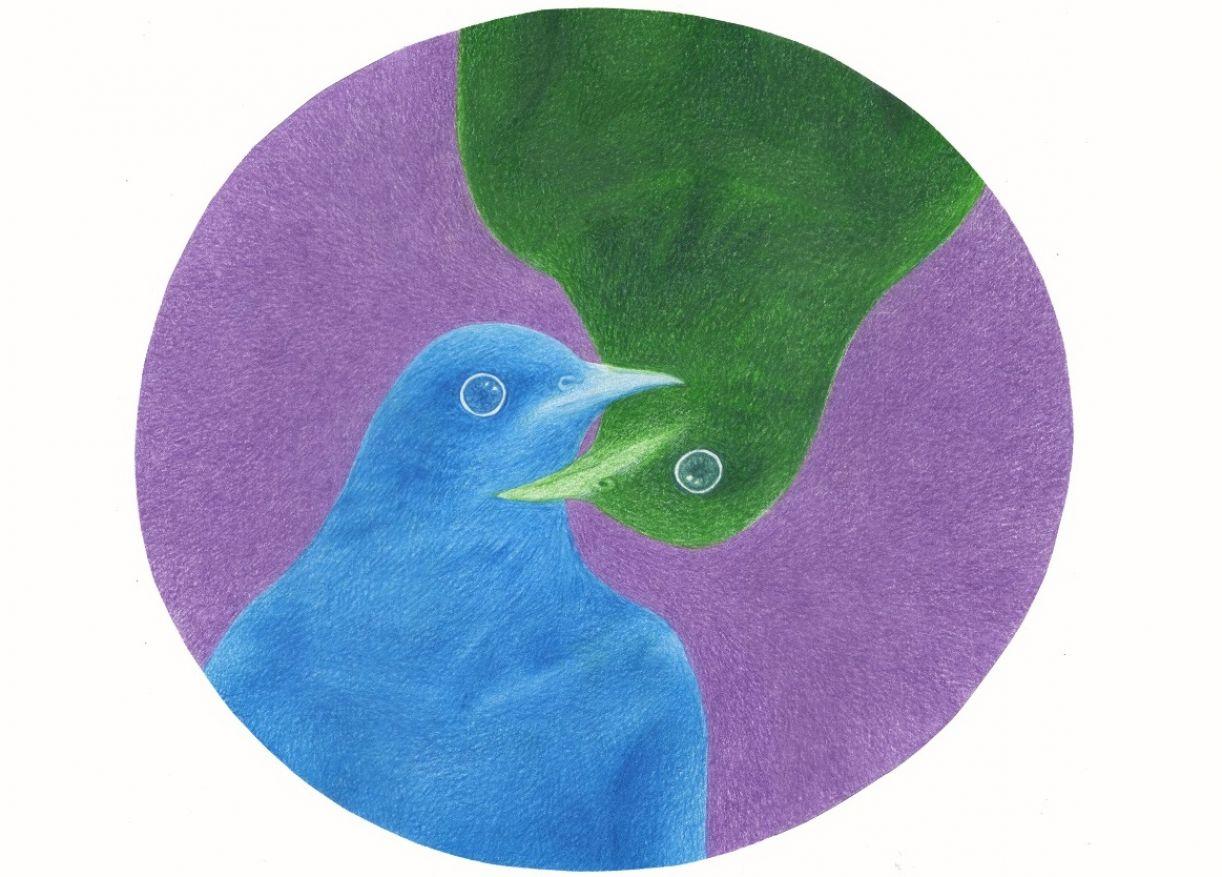 Obra do políptico 'Fala comigo', composto por mais 11 desenhos