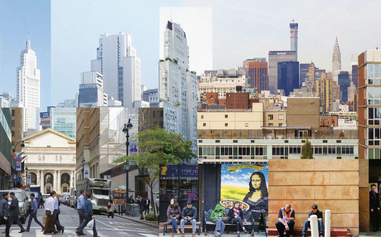 'Random City #5 (New York - Buenos Aires - Adelaide)', impressão pigmento mineral sobre papel mate, 2016, 160 x 100 cm